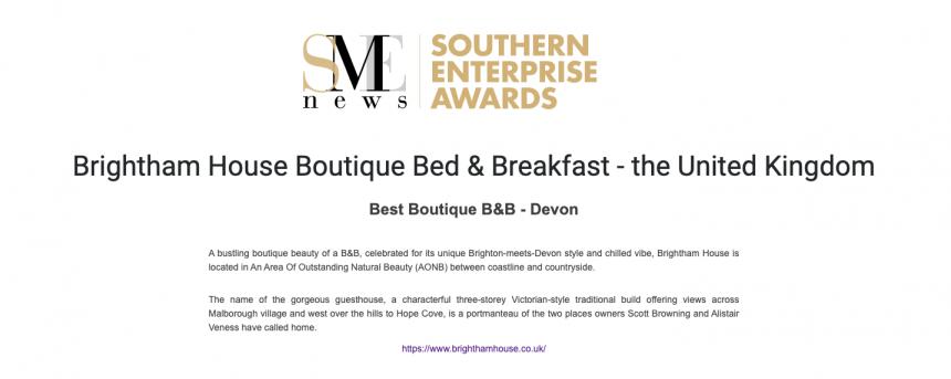 Best Boutique B&B Devon 2020