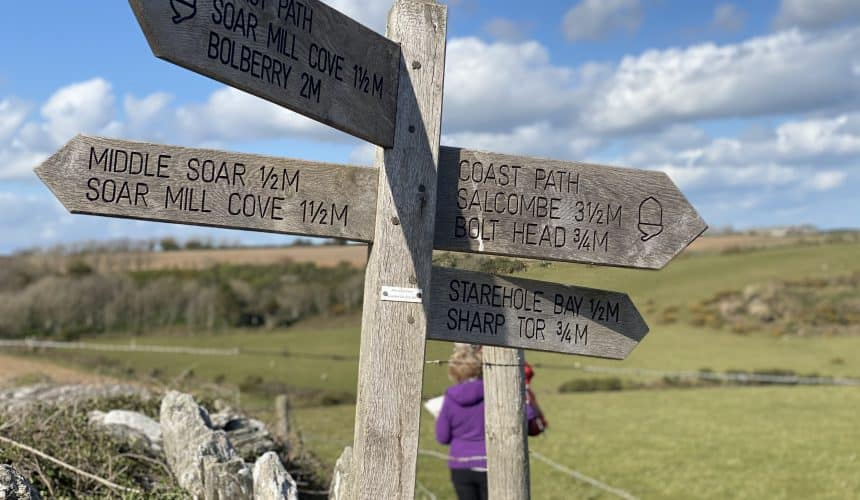 East Soar to Overbeck's National Trust Walk
